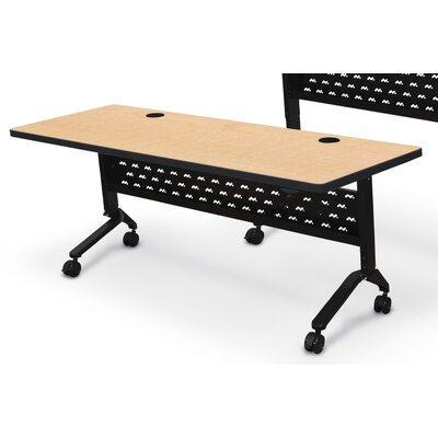 Nido Flipper Height Adjustable Training Table with Wheels Size: 72 W, Tabletop Finish: Fusion Maple