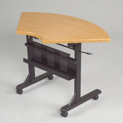 46 W Flipper Training Table with Wheels Tabletop Finish: Teak