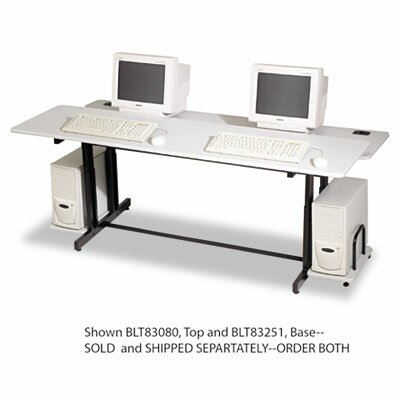 72 W Height Adjustable Computer Table