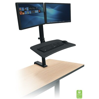 Up-Rite Rear Height Adjustable  2 Screen Workstation/Cart