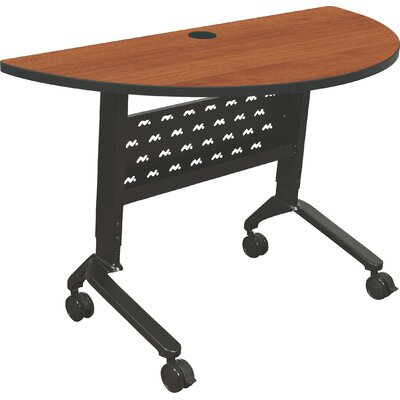 48 W Nido Flipper Height Adjustable Training Table with Wheels Tabletop Finish: Amber Cherry
