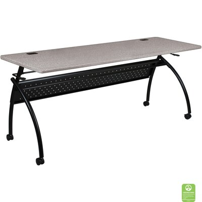 Chi Flipper Training Table with Wheels Size: 60 W, Tabletop Finish: Gray Nebula