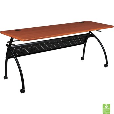 Chi Flipper Training Table with Wheels Size: 72 W, Tabletop Finish: Light Cherry