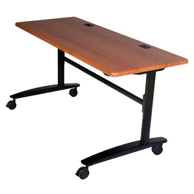 Cherry Lumina Flipper Training Table with Wheels Size: 60 W