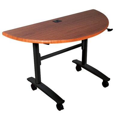 48 W Cherry Lumina Training Table with Wheels
