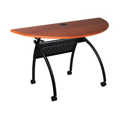 48 W Chi Flipper Training Table with Wheels Tabletop Finish: Light Cherry