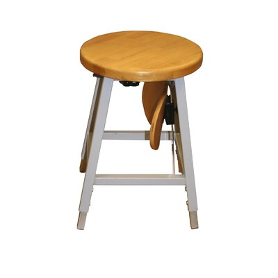 Lab Adjustable Height Bar Stool Upholstery: Gray