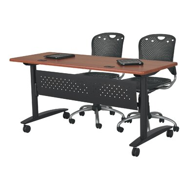 Lumina 10 H x 45 W Desk Privacy Panel Color: Black