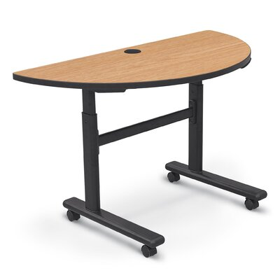 48 W Height Adjustable Training Table with Wheels Tabletop Finish: Castle Oak