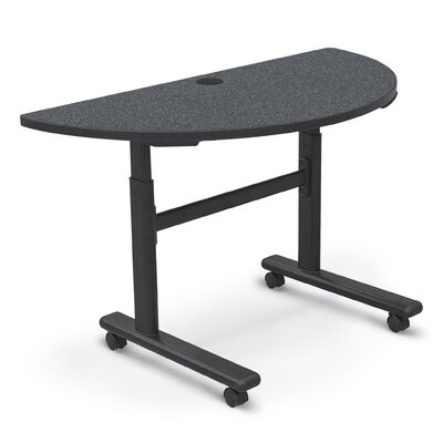 48 W Height Adjustable Training Table with Wheels Tabletop Finish: Graphite Nebula / Black