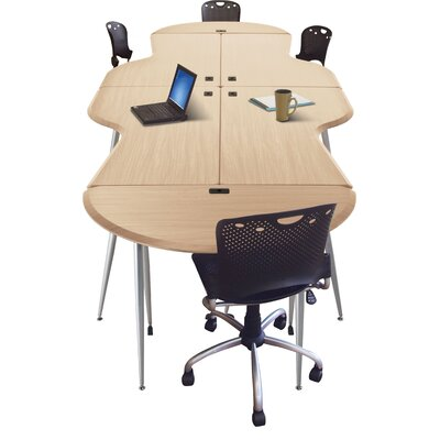 iFlex 14.8' Conference Table Color: Teak Product Picture 5513