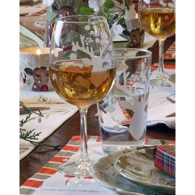 Deer Friends 16 oz. Wine Glass (Set of 4) 16STDF-16