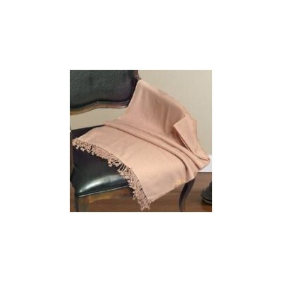 Peach Couture Signature Cashmere Throw Color: Tan