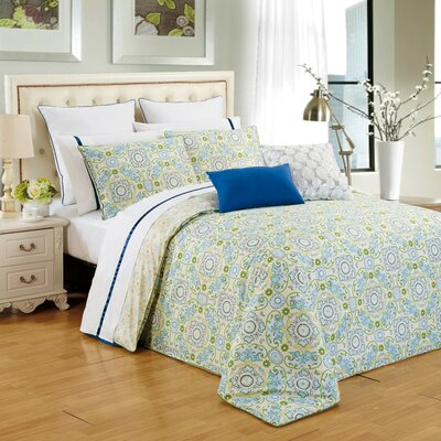 Couture Home 3 Piece Reversible Duvet Cover Set Size: King