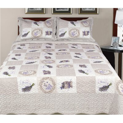 Hendrik 3 Piece Geometric Reversible Quilt Set Size: King