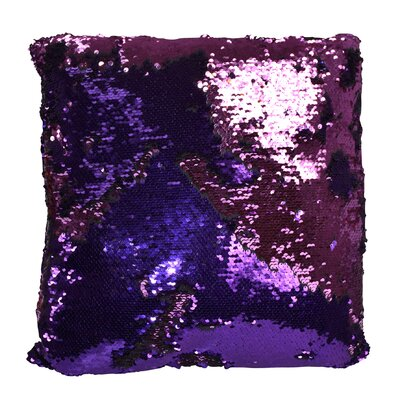 Hendrik Reversible Sequin Color Changing Pillow Cover Color: Purple/Pink
