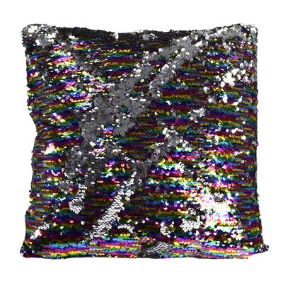 Hendrik Reversible Sequin Color Changing Pillow Cover Color: Silver/Pink