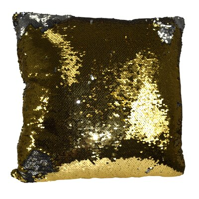Hendrik Reversible Sequin Color Changing Pillow Cover Color: Gold/Silver