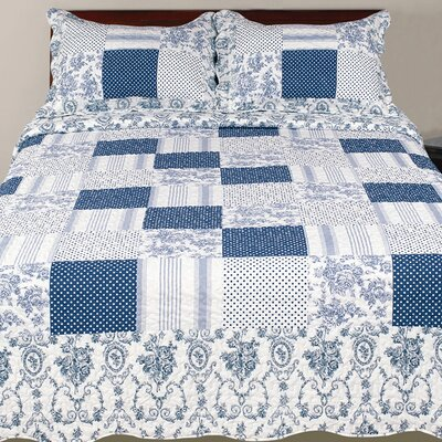 Hendrik 3 Piece Paisley Reversible Quilt Set Size: King