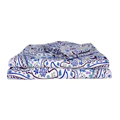 Cantu Vintage Exclusive Designer 400 Thread Count Abstract 100% Cotton Sheet Set Size: Queen