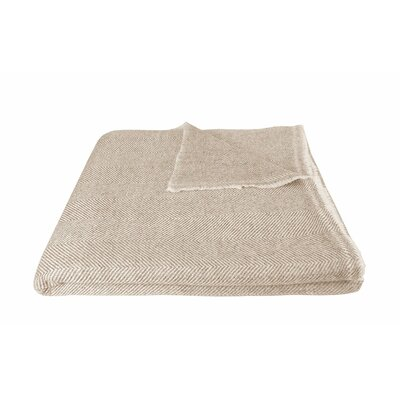 Bradly Soft and Luxuriously Warm Cashmere Wool Blanket Color: Beige