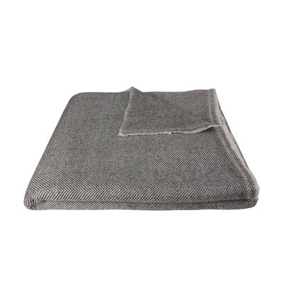Bradly Soft and Luxuriously Warm Cashmere Wool Blanket Color: Gray