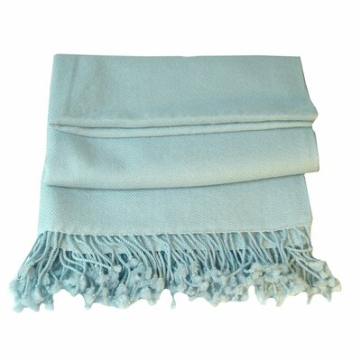 Peach Couture Signature Cashmere Throw Color: Baby Blue