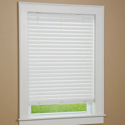 One Touch Cordless Faux Wood Venetian Blind Size:  64 W x 38 L