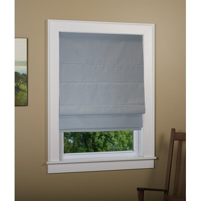 Richmond Blackout White Roman Shade Size: 27 W x 63 L, Finish: Gray