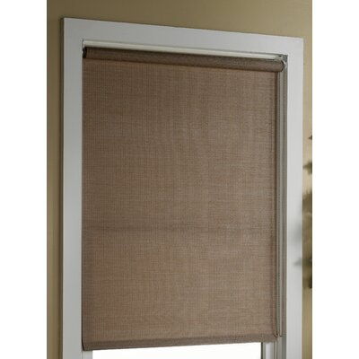 Deluxe Woven Cane Paper Roller Shade Color: Natural, Size: 60 W x 72 L
