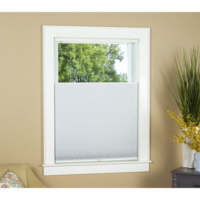 Blackout Pleated Shade Blind Size: 24 W x 64 L, Color: White