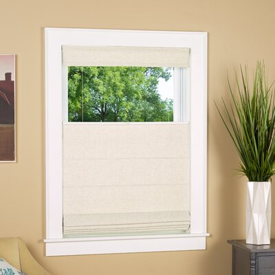 Room Darkening White Roman Shade Blind Size: 29 W x 64 L