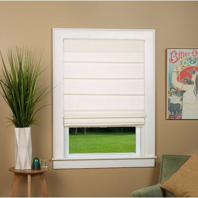 Colt Room Darkening Roman Shade Blind Size: 26 W x 64 L, Color: Alabaster