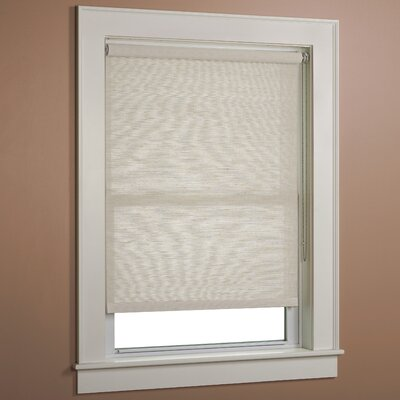 Textured Jute Roller Shade Size: 34 W x 72 L, Color: Ecru