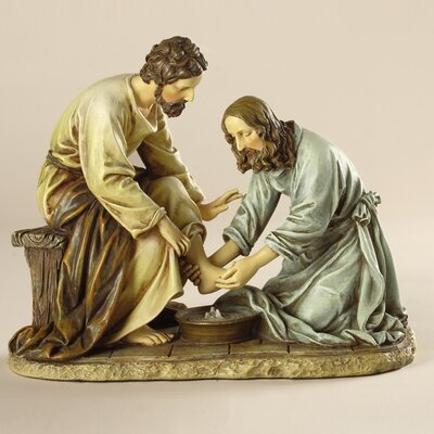 Jesus Washes Disciples Feet Figure