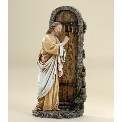 Jesus Knocking at Door Figure