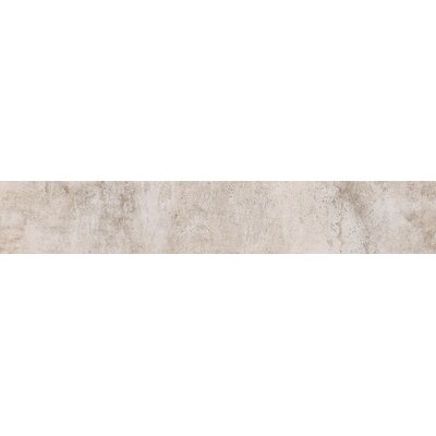 Concrete 24 x 4 Bullnose Tile Trim in White