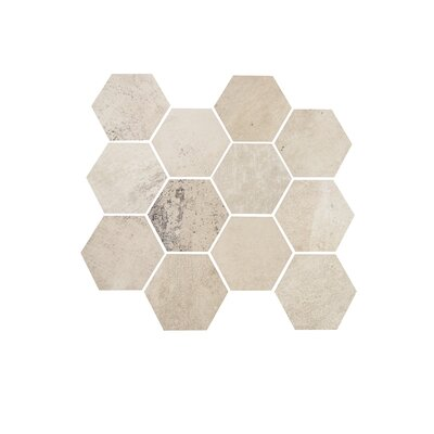 3.25 x 3.25 Porcelain Mosaic Tile in White Cloud