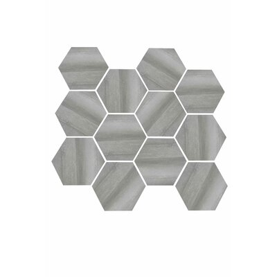 Burlington 3.25 x 3.25 Porcelain Mosaic Tile in Gray