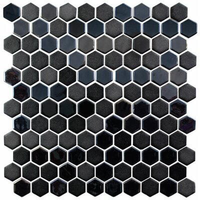 Onix 1 x 1 Glass Mosaic Tile in Gray/Pewter