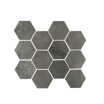 3.25 x 3.25 Porcelain Mosaic Tile in Gun Powder