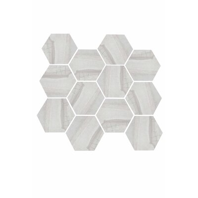 Burlington 3.25 x 3.25 Porcelain Mosaic Tile in Light Gray