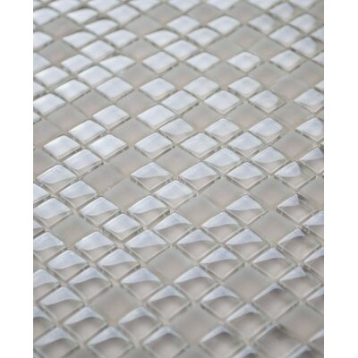 Micron 0.38 x 0.38Glass Mosaic Tile in Cappuccino