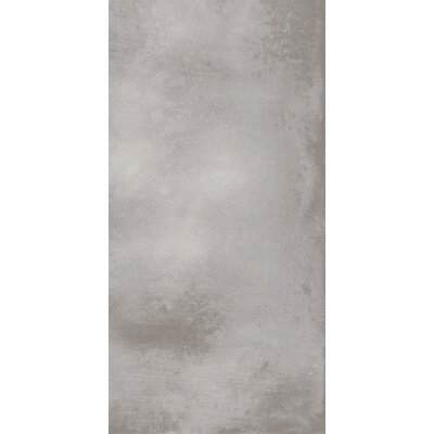 Metal Max 24 x 48 Porcelain Field Tile in Medium Gray