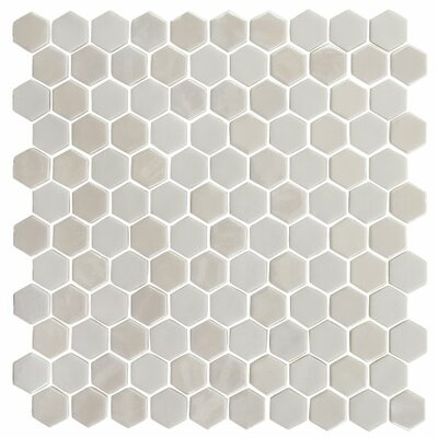 Onix 1 x 1 Glass Mosaic Tile in Pearl