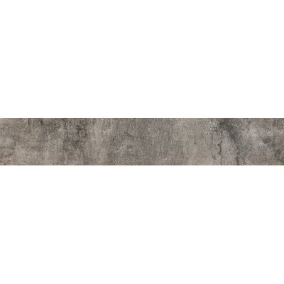 Concrete 24 x 4 Bullnose Tile Trim in Matte Argento