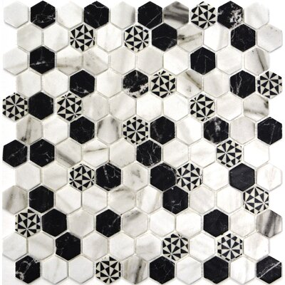 Onix 1 x 1 Glass Mosaic Tile in Emma Malla
