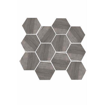 Burlington 3.25 x 3.25 Porcelain Mosaic Tile in Dark Gray