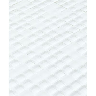 Micron 0.38 x 0.38Glass Mosaic Tile in Ice White