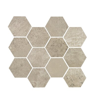 3.25 x 3.25 Porcelain Mosaic Tile in Ash Gray